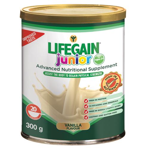 Lifegain Junior Vanilla (Gluten Free) 300g