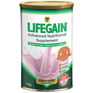 Lifegain Strawberry (Gluten Free) 1Kg