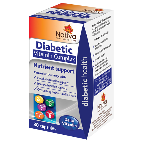 Nativa Range Diabetic Vitamin Complex 30's
