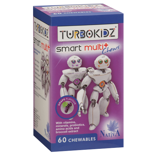 TurboKidz Multi+Chewable Grape 60's
